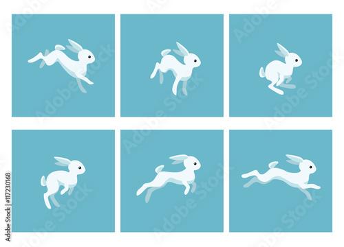 Running rabbit animation sprite