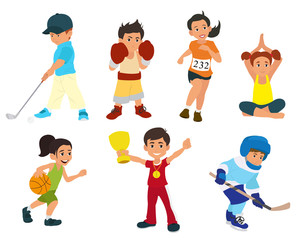 sports kids are actively involved in sports.