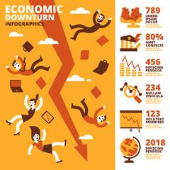 Economic Downturn Infographics