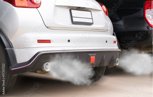 Exhaust Coming Out Of A Car ~ Quot combustion fumes coming out of car exhaust pipe imagens