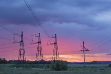 high voltage transmission lines