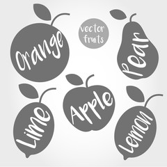 grey fruit silhouette
