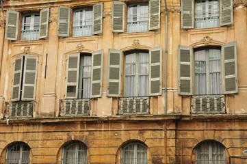 Aix en Provence, France - april 21 2016 : picturesque city in sp
