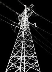 pylon isolated on black background