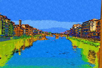 Florence Italy art illustration
