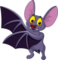 Bat cartoon waving