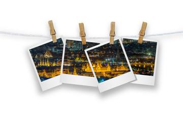 Blank photo frame isolated.