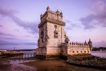 The wonderful Belem tower in Lisbon, Portugal