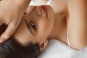Beauty Woman Face. Beautiful Girl With Healthy Fresh Skin