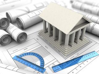 ancient building blueprints