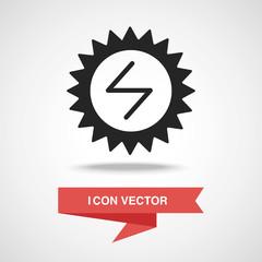 Environmental protection concept solar energy icon