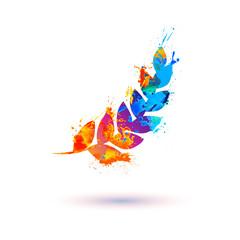 spike. Splash paint