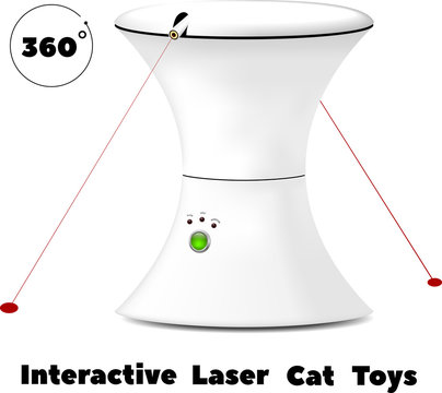 interactive rotating laser toy for cats