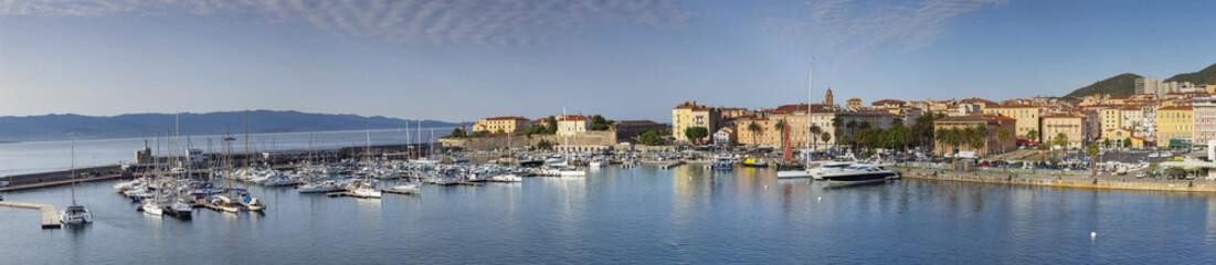 Wall Mural - Hafen von Ajaccio auf der Insel Korsika - Panoramabild