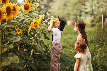 Children happy outdoors.