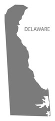 Delaware USA Map grey