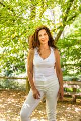 Sunny menopausal woman