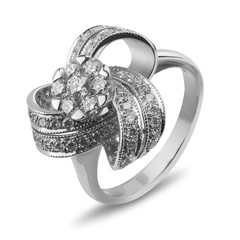 Кольцо из белого золота  #8