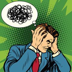 Male headache confused