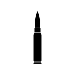 Rifle bullet icon - Vector