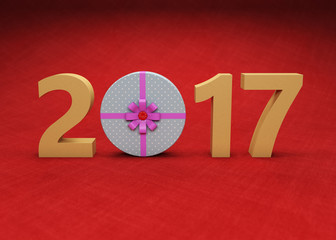 New Year 3D Rendering Image