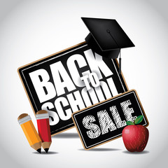 Back to school sale icon.
