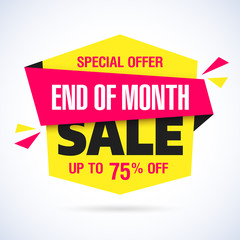 End of Month Sale banner. Month end sale.