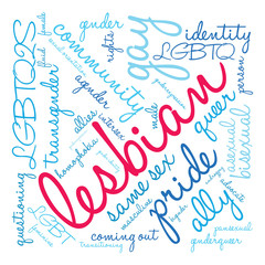 Lesbian Word Cloud