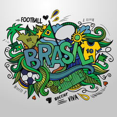 Brazil Summer and doodles elements