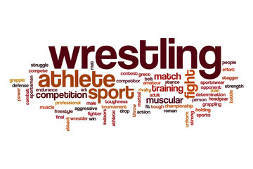 Wrestling word cloud concept