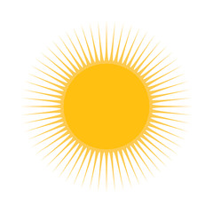 sun vector symbol icon design. illustration isolated on white ba