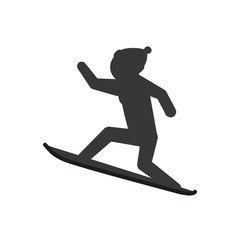 snowboard man male hat winter sport snow icon. Isolated and flat illustration. Vector graphic