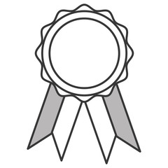 flat design award badge icon vector illustration