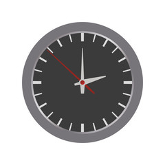 clock circle time traditional icon. Isolated and flat illustration. Vector graphic