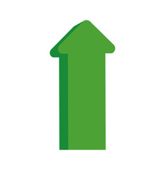 arrow up increase green direction infographic icon. Isolated and flat illustration. Vector graphic