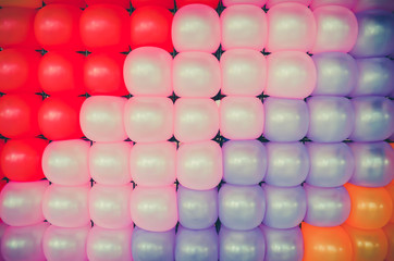 Colorful Balloon Pattern wallpaper background in party concept.