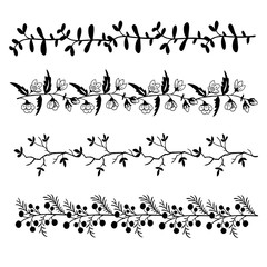 High quality original set of floral pattern for decoration, card