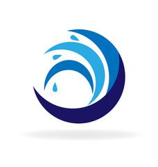 Beach waves logo
