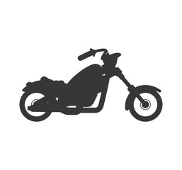 motorcycle motor motorbike transportation icon. Isolated and flat illustration. Vector graphic