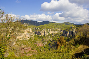 Panoramic view of high mountains in Spain