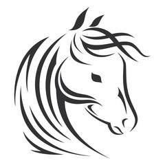 Vector sign. Horse logo.