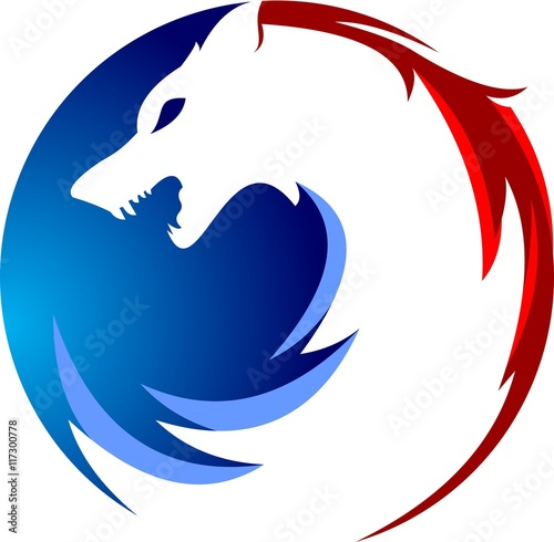 circular of wolf logo stock image and royalty free vector files on