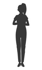 flat design business woman icon vector illustration