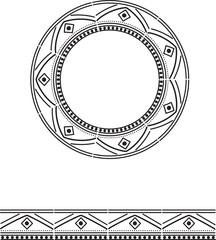 pattern mandala ornament vector illustration