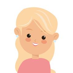flat design single woman icon vector illustration