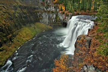 Mesa Falls in Fall