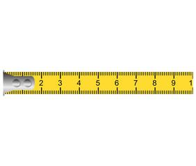 tape measure ribbon icon