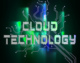 Cloud Technology Means Online Electronics And Web