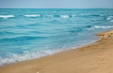 Beautiful seascape on sunny summer day