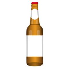 beer bottle brown vector illustration